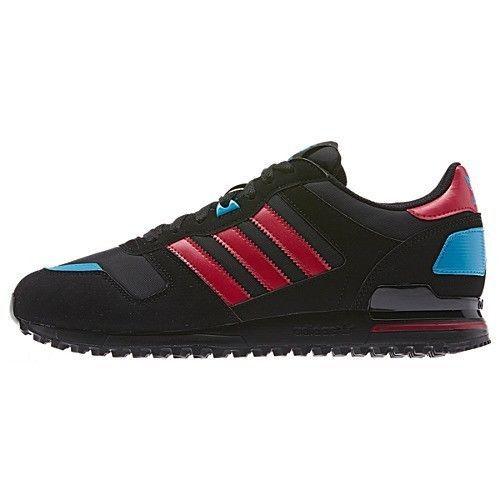 timeless design c80b0 ce0e6 ... buy new mens adidas originals zx 700 running d65284 black red blue  0cb22 038da