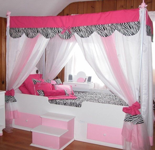 Princess Beds For Teens Princess Beds For Girls Little Tikes Bed With Images Girls Bed Canopy Zebra Room Bedroom Design