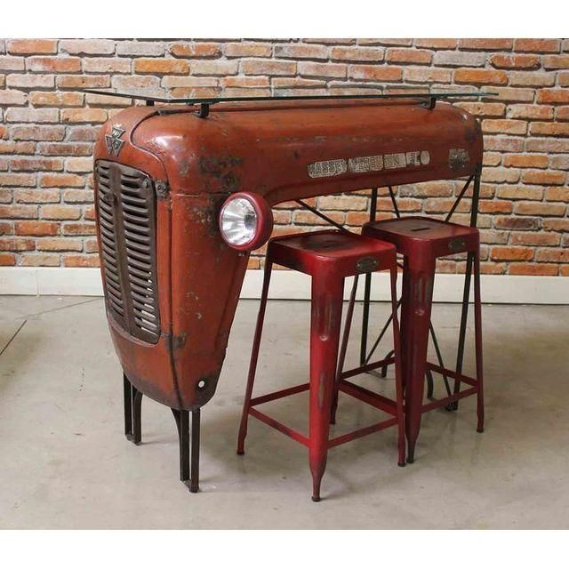 upcycled vintage tractor bar upcycling vintage traktor bar upcycling furniture upcycling. Black Bedroom Furniture Sets. Home Design Ideas