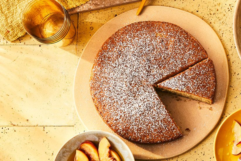 Nectarine Olive Oil Cake #oliveoils