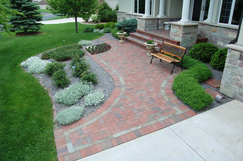 Paver Walkway Design Ideas 1000 Images About Front Sidewalk On