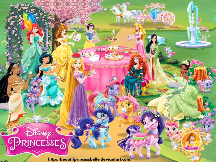 Disney Princesses Tea Time Ii Disney Princess Art Disney Princess Palace Pets Disney Princess Elsa