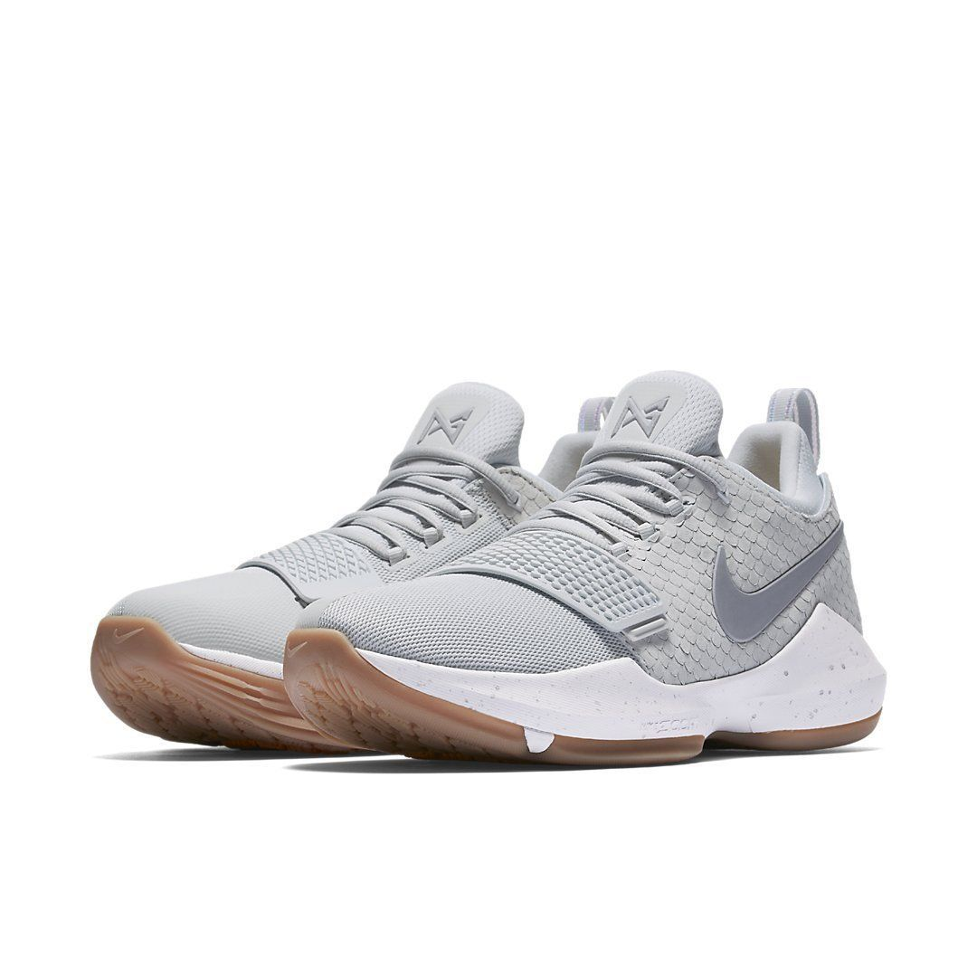 newest 7044c 4e234 Nike PG 1 Pure Platinum   878627-008   Mens PG1 Mesh Scale Gum Grey Gold FS