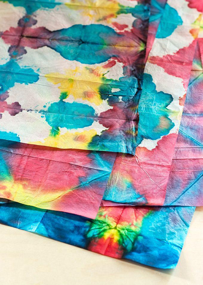9ee56078f6d073 DIY  Tie-Dye Paper  craft  tiedye  tissue