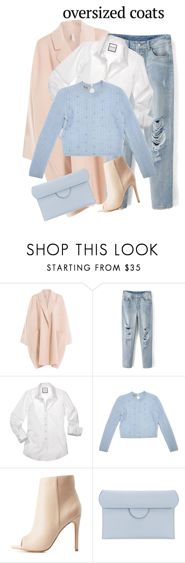 """""""outfit 5892"""" by natalyag ❤ liked on Polyvore featuring Helmut Lang, Miu Miu, Charlotte Russe and Roksanda"""