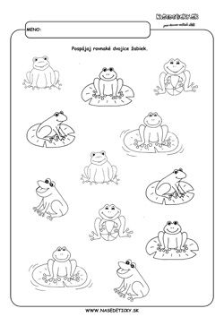 Hľadáme rovnaké dvojice žabiek