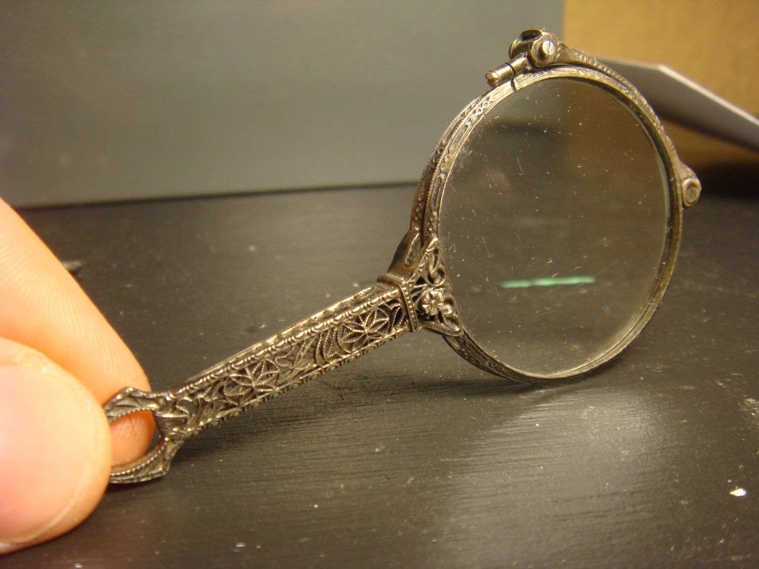 3e67d0947a51 Sterling Silver Art Deco Filigree Lorgnette w lenses Circa 1920 GORGEOUS  CRAFTSMANSHIP