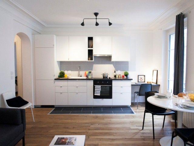 Avant Apres Petit Budget Et Grands Bouleversements Pour Un 40 M2 Kitchen Interior Kitchen Furniture Home Decor