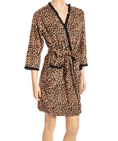 Look at this #zulilyfind! Cheetah Ruffle Robe #zulilyfinds