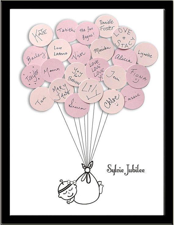 Baby Shower Guest Book Alternative Print By SayAnythingDesign