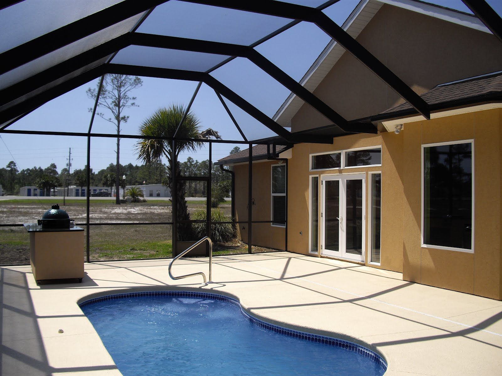 Mansard Roof Pool Enclosure Pool Enclosures Mansard Roof Outdoor Decor