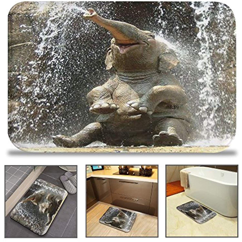 Qiyi bath mat rug super soft nonslip machine washable quickly