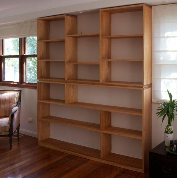 Custom Made Timber Bookshelves Sydney Nathaniel Grey