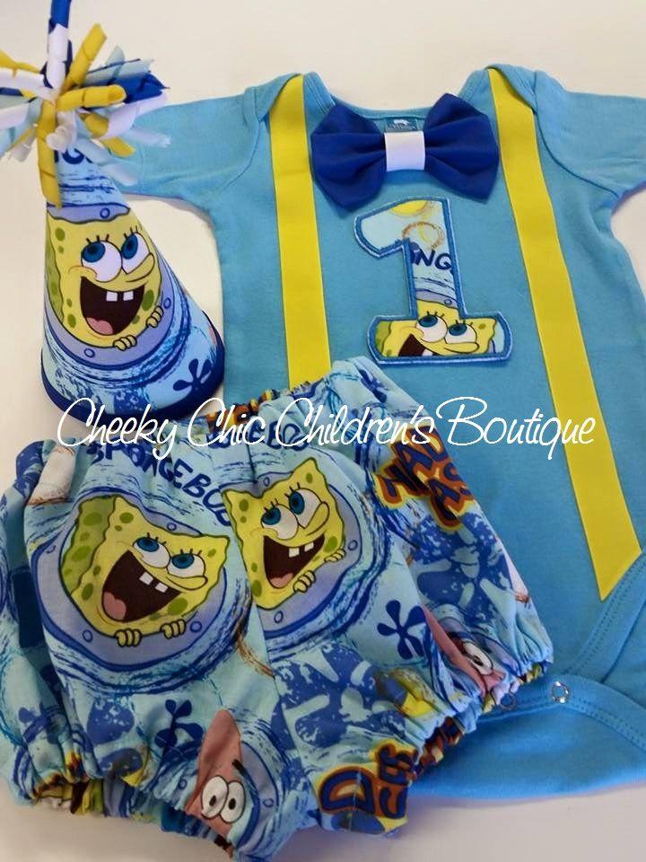 SpongeBob 1st Birthday Cake Smash Photo Prop Set