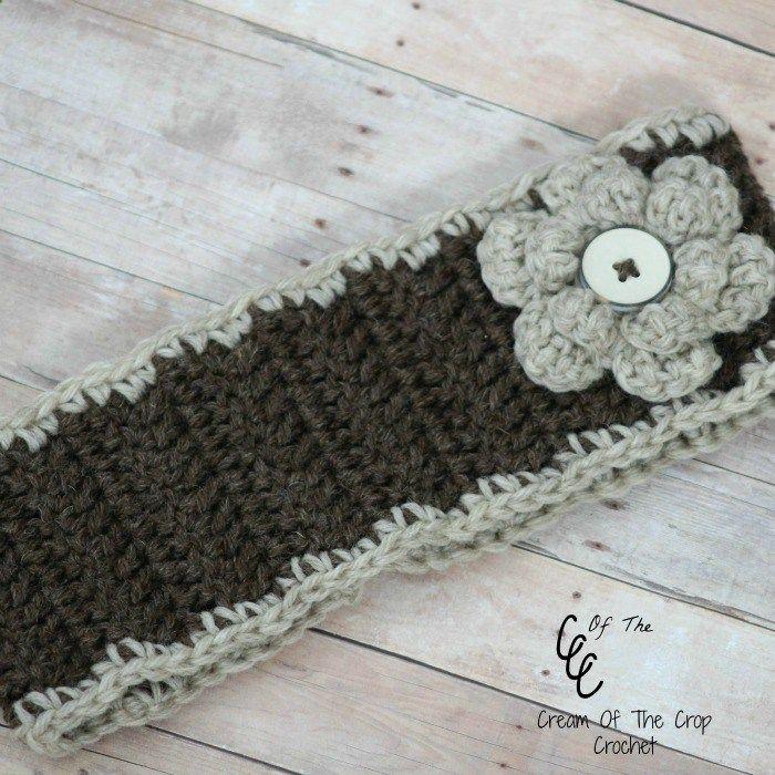 Cream Of The Crop Crochet ~ Flower Ear Warmers {Free Crochet Pattern ...