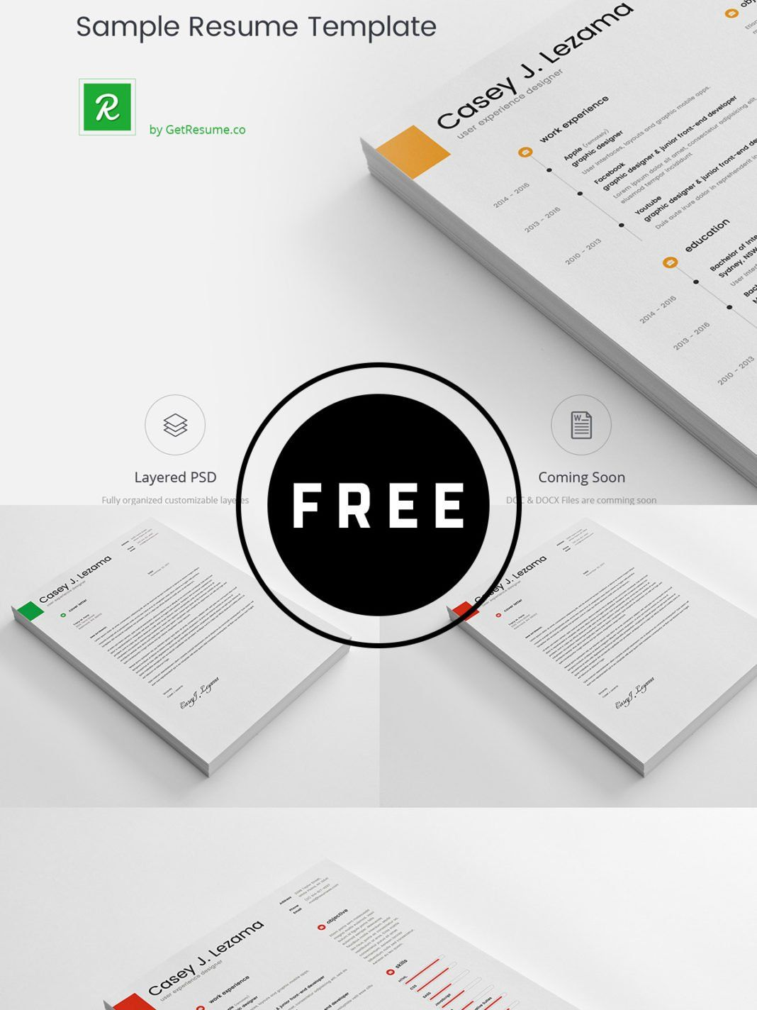 98 Awesome Free Resume Templates for 2019 in 2020 Sample