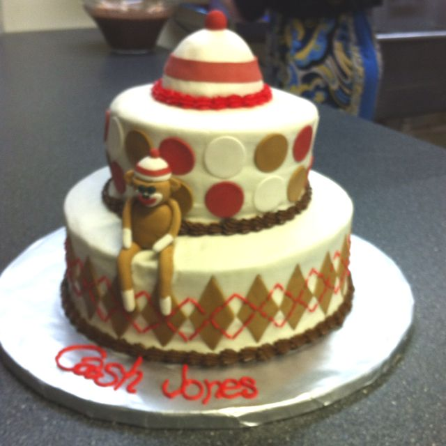 Sock Monkey Cake made by Nicole Gray :)