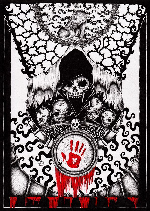 Skyrim Dark Brotherhood By Inkarts On Deviantart Dark Brotherhood