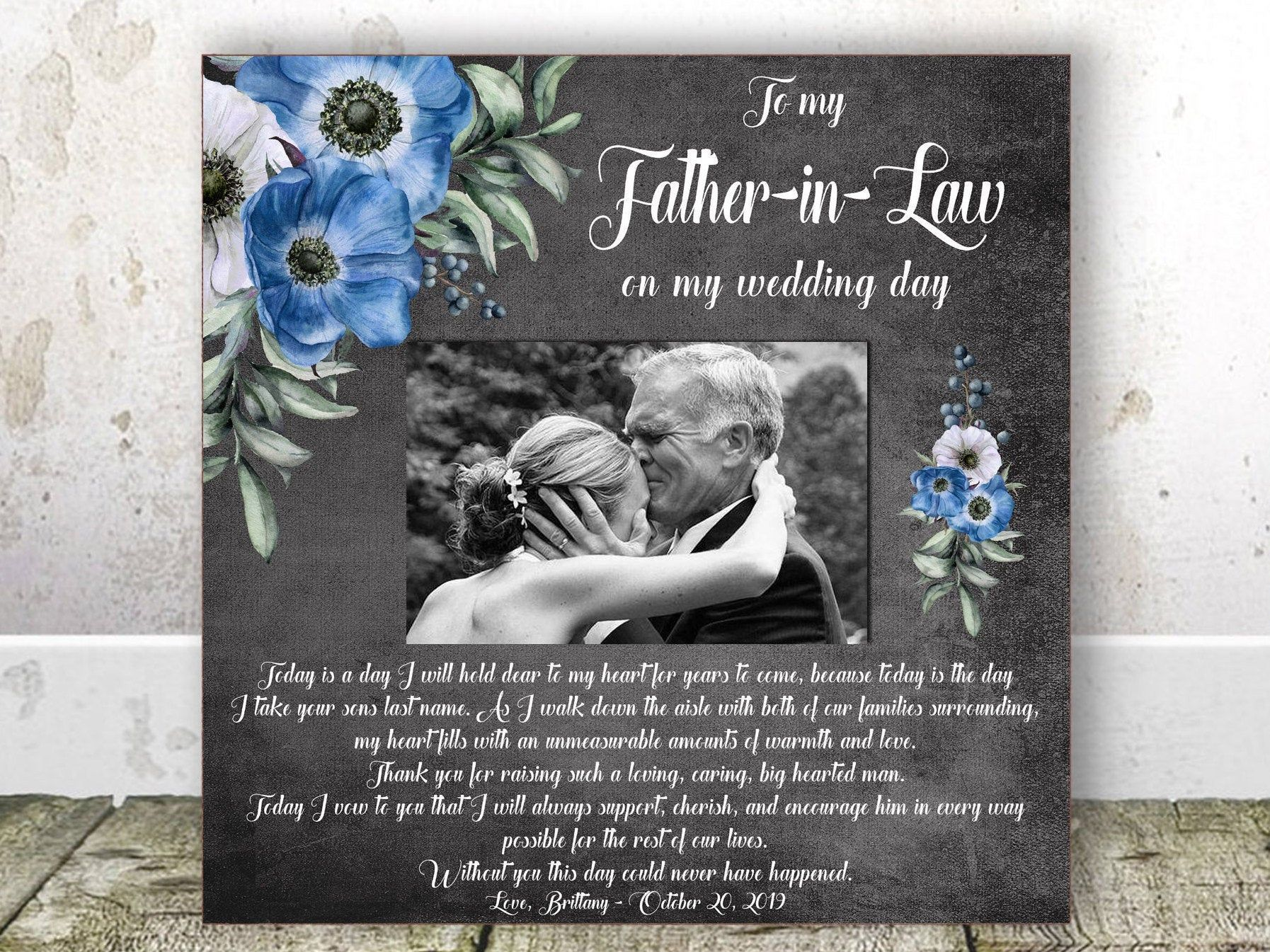 Father in law wedding gift from bride wedding gift father
