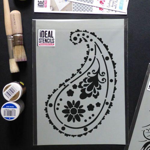 Almora Indian Paisley STENCIL Wall Pattern DECOR Painting Craft Art