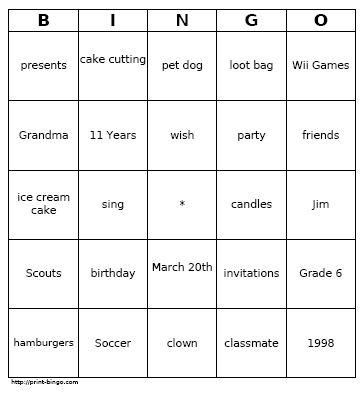 Customizable Bingo Card Image | Printables | Pinterest