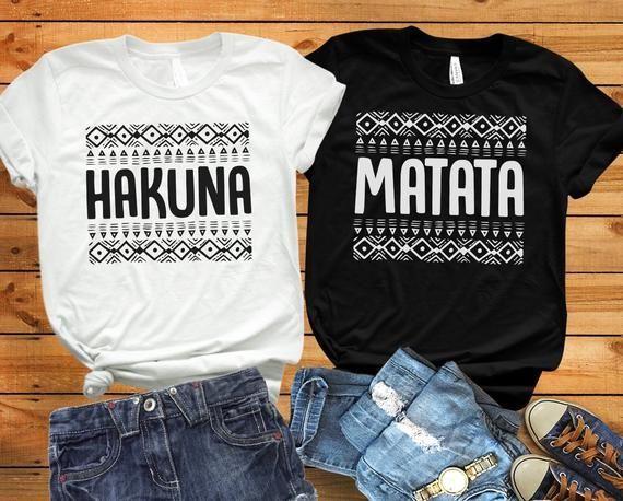 Hakuna matata couple matching shirts Disney couple shirts Disney family shirts L…