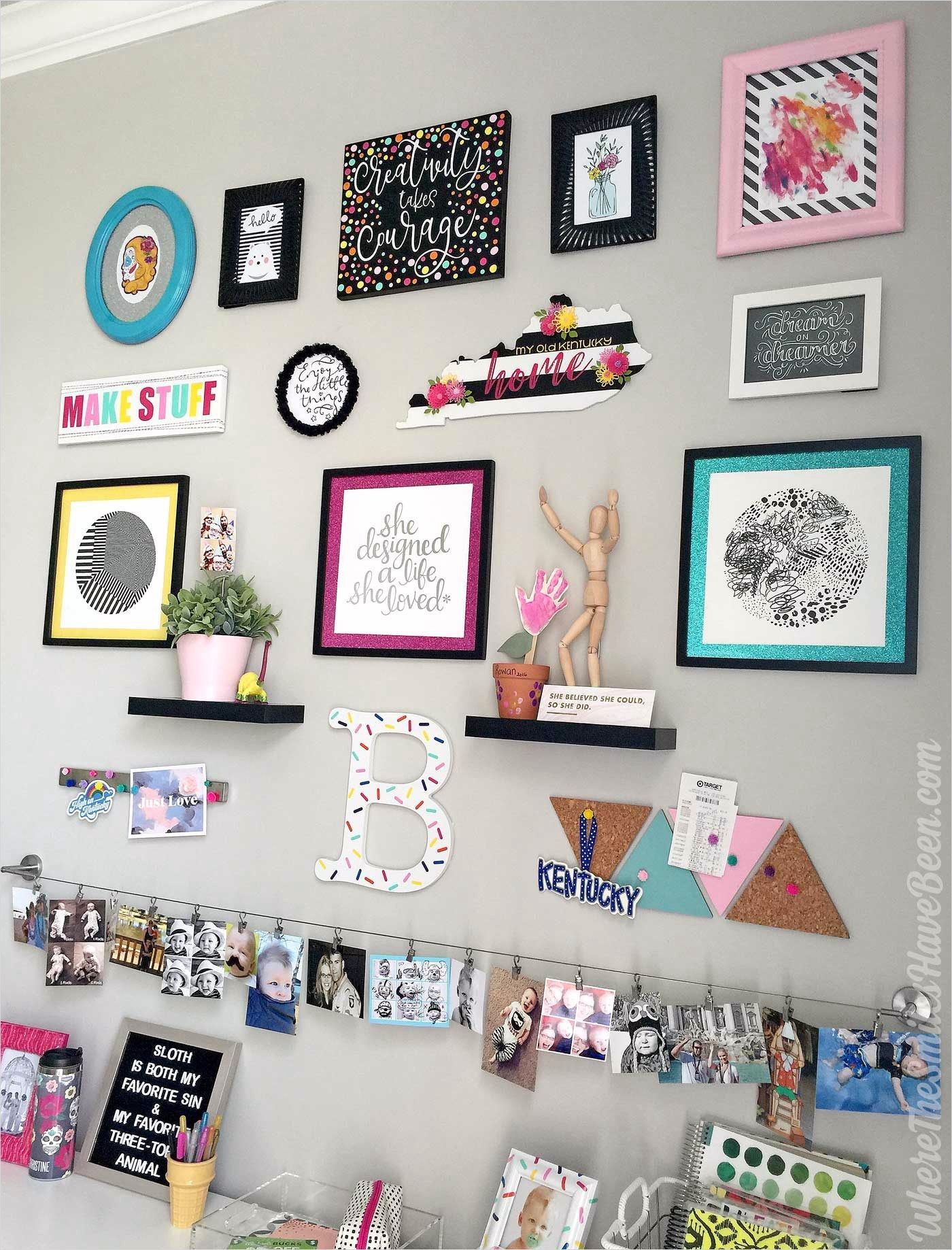 42 Amazing Diy Craft Room Gallery Wall 77 Colorful Craft