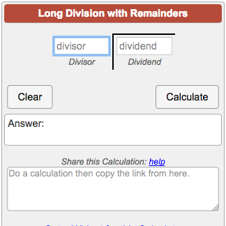 Long Division With Remainders Showing The Work Step By Step Calculate Quotient And Remainder And See The W Long Division Remainders Common Core Math Fractions