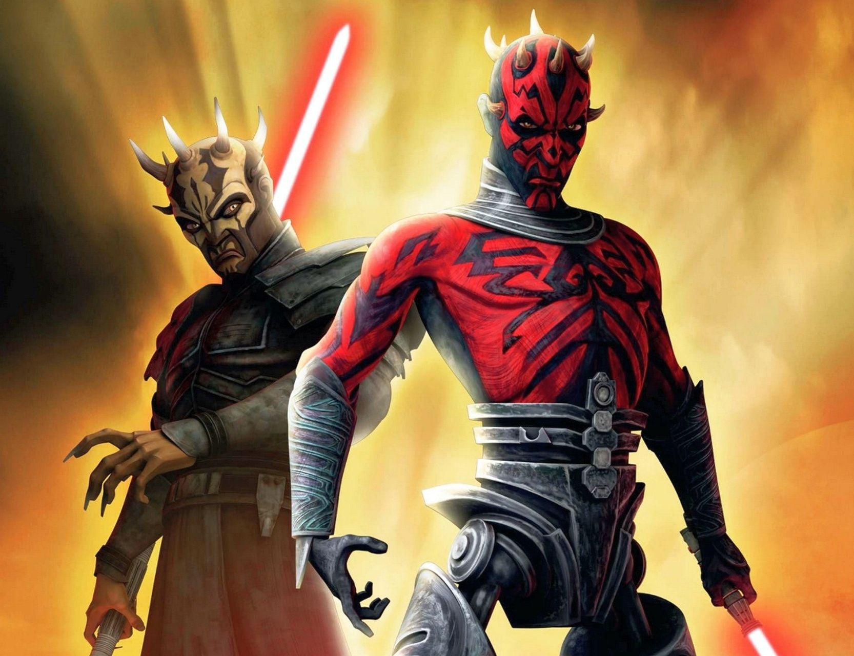 Image result for darth maul and savage opress clone wars