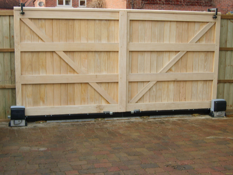 Wood Fence Sliding Gate Kit Wood Fence Gates Wood Fence Wooden