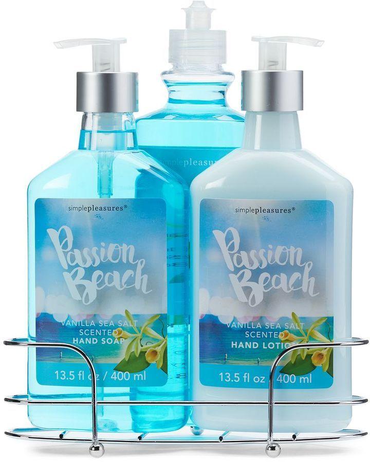Simple Pleasures 3-pc. Passion Beach Vanilla Sea Salt Caddy Gift Set