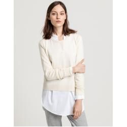 Photo of Gant Superfeiner Lambswool Sweater (Weiß) GantGant