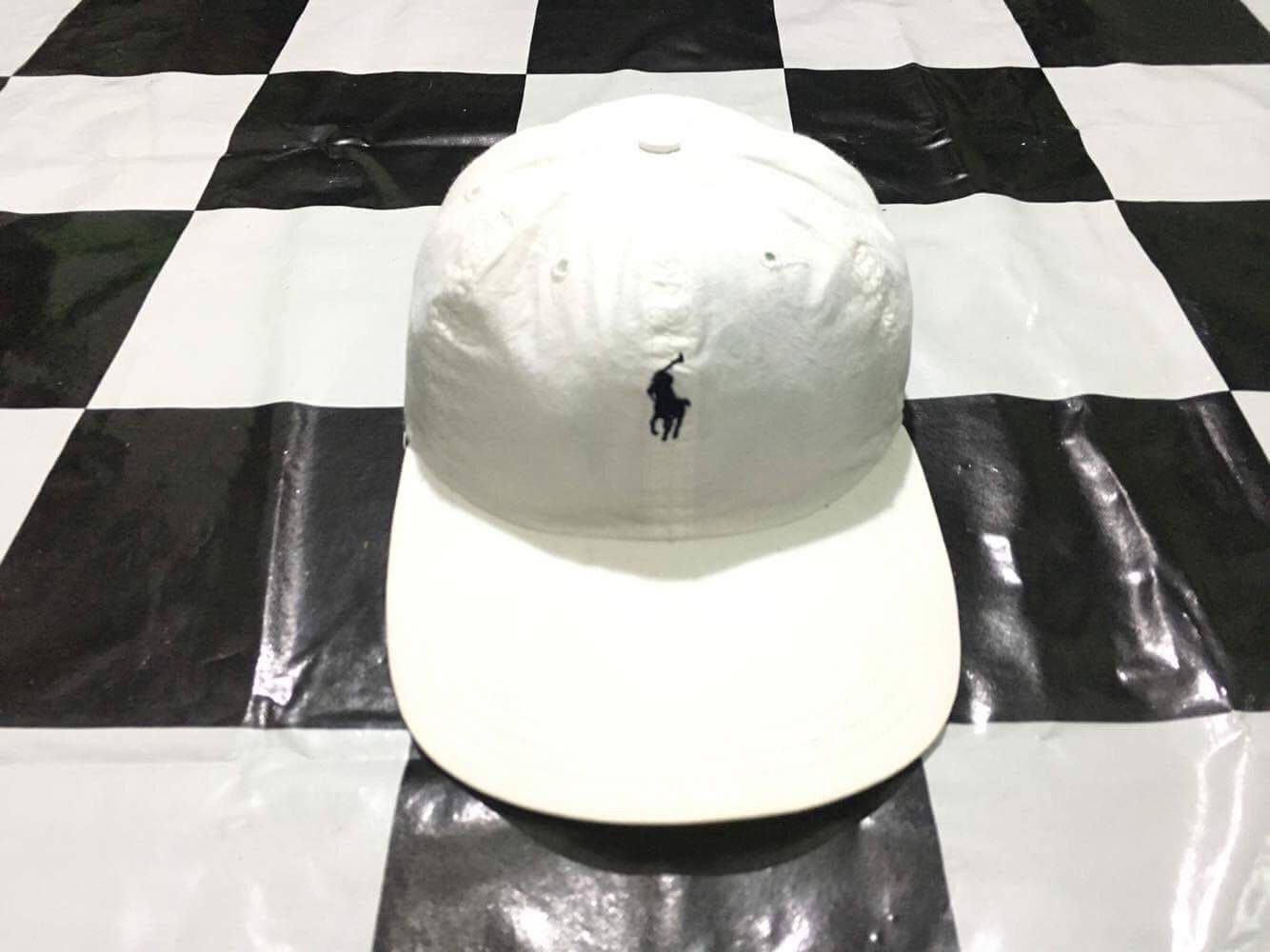 Vintage Polo ralph lauren cap small pony white hat Excellent condition by AlivevintageShop on Etsy