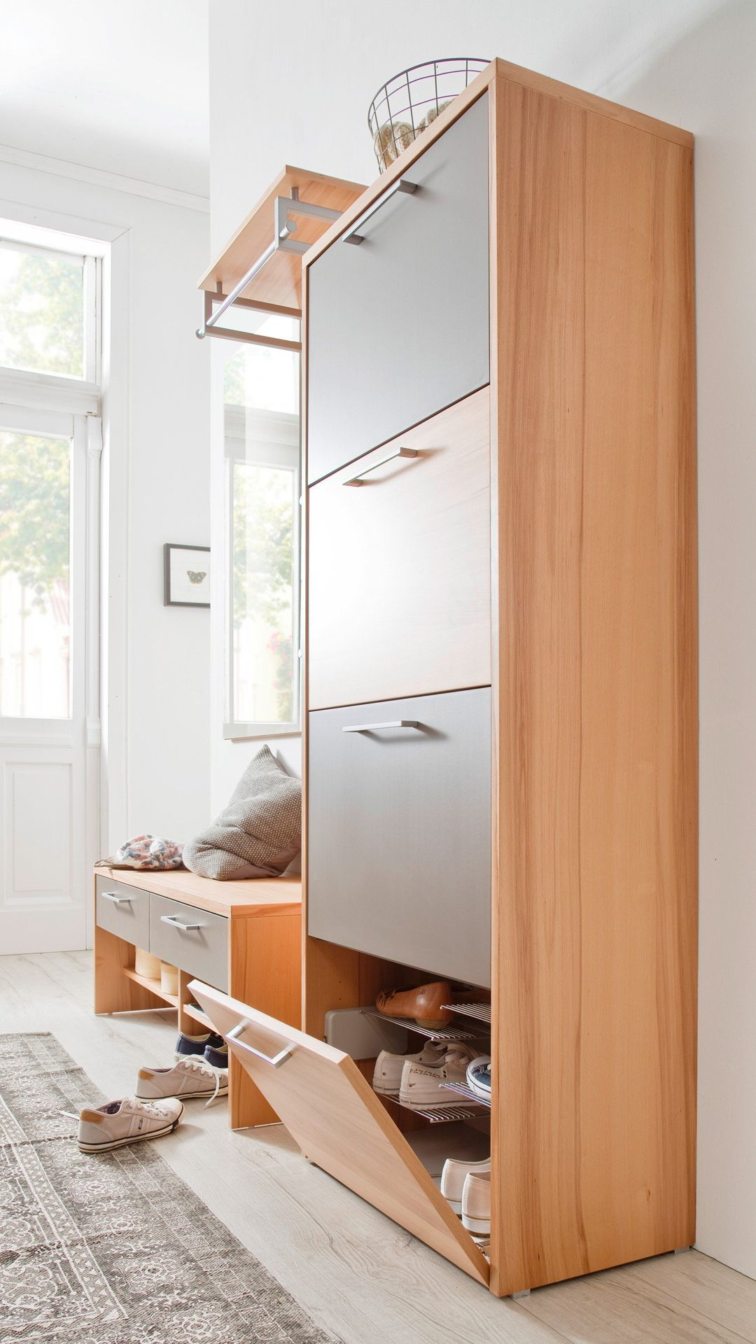 Wittenbreder Multi Color Wood Kernbuche Basalt Garderobe Mobel
