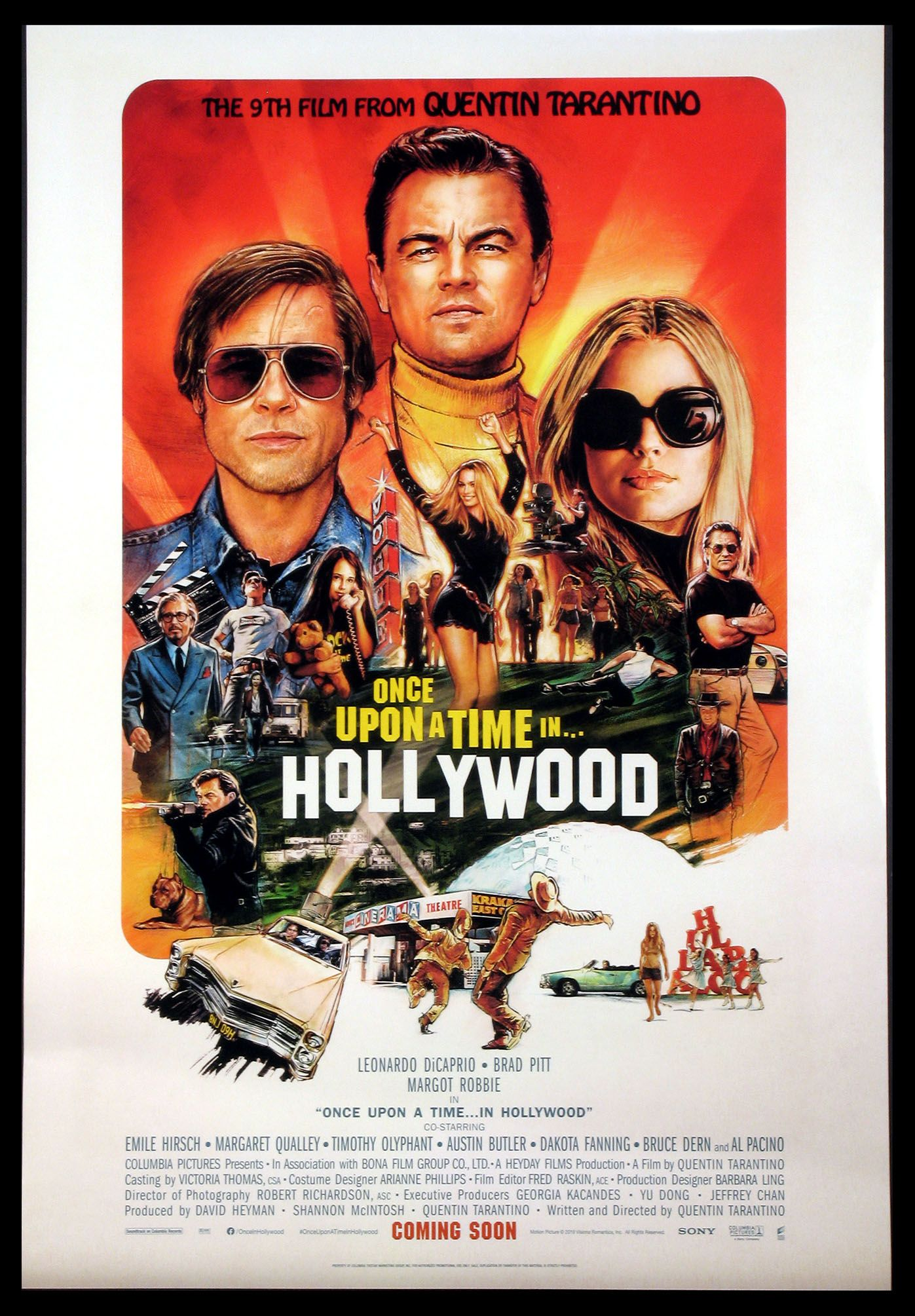 Once Upon A Time In Hollywood 2019 Original One Sheet Size 27x40 Movie Poster In Hollywood Quentin Tarantino Once Upon A Time