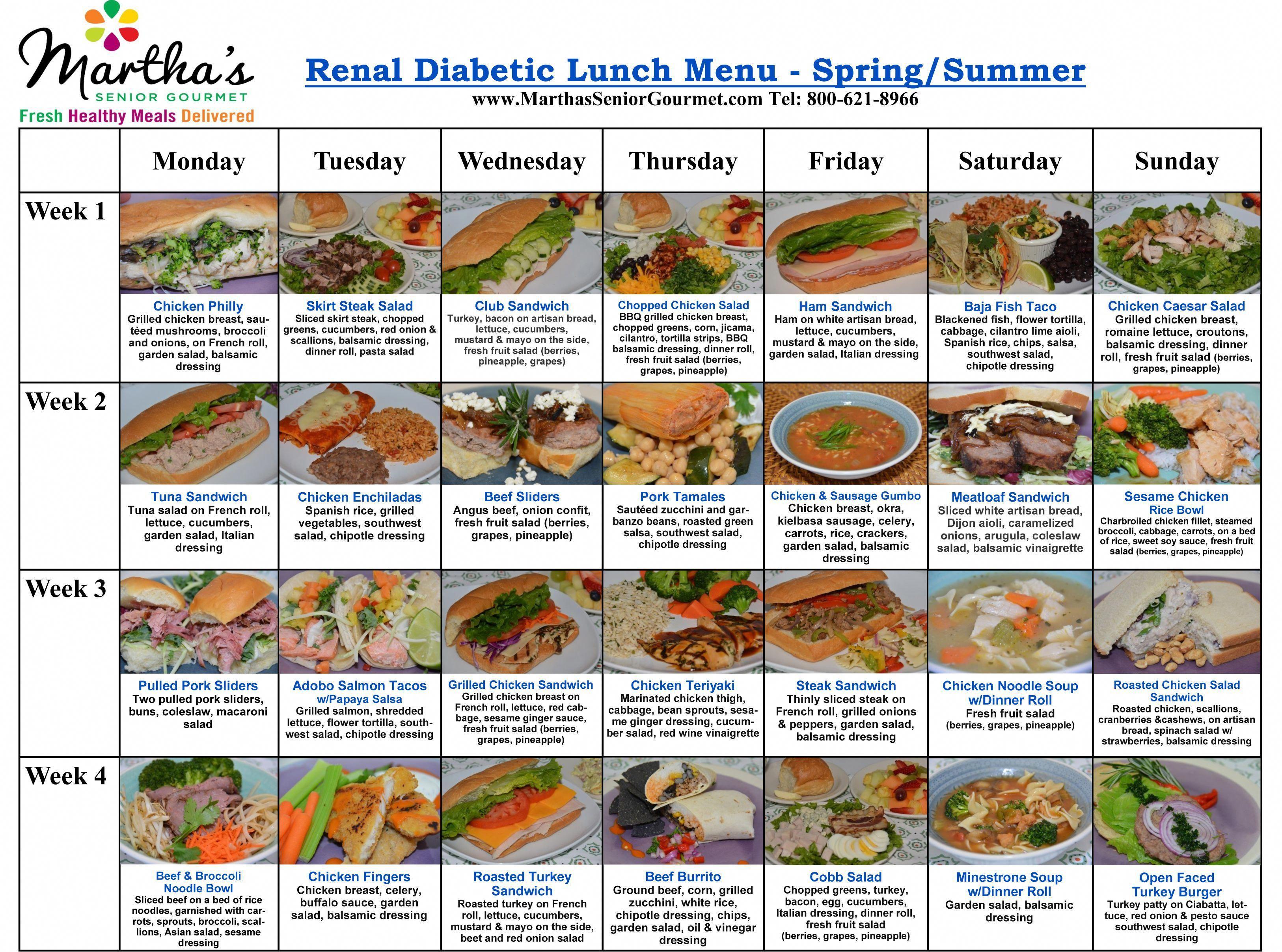 Renal/Diabetic   Healthy Meal Delivery Diabetic Meals ...