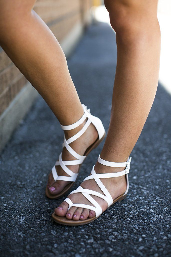 White Gladiator Sandal Lane 201 Boutique Http