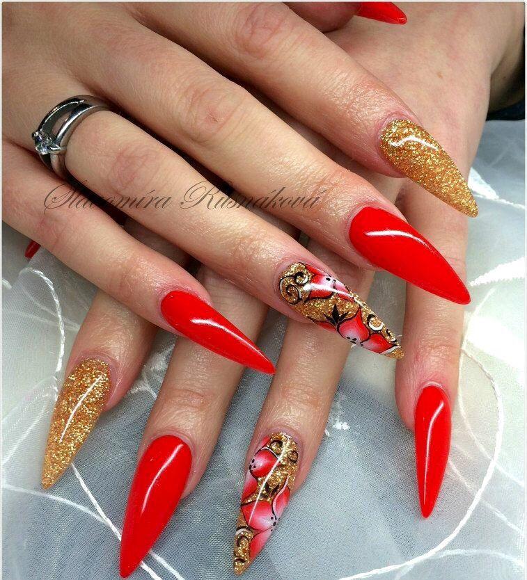 Pin by Tachrista sires on Nails | Pinterest | Nail nail, Red nails ...