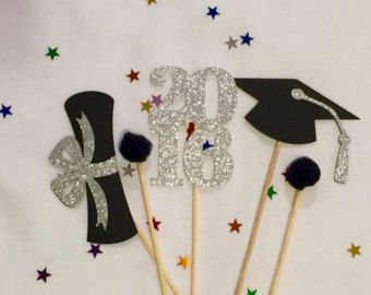 graduation centerpiece sticks 2016 graduation by squibbledesigns
