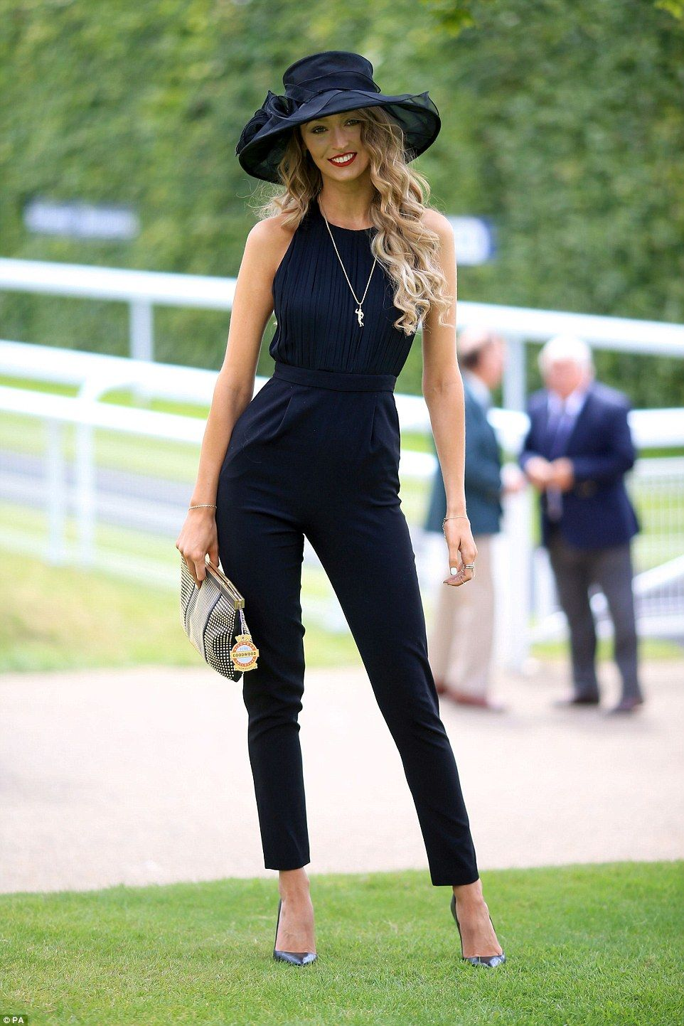 This Young Woman Opted For A Modern Take On The Dress Code With Chic Jumpsuit