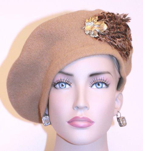 5e0bafde7 Vintage Flirty 1960 Beige French Style Beret Hat Dillards 21 ...