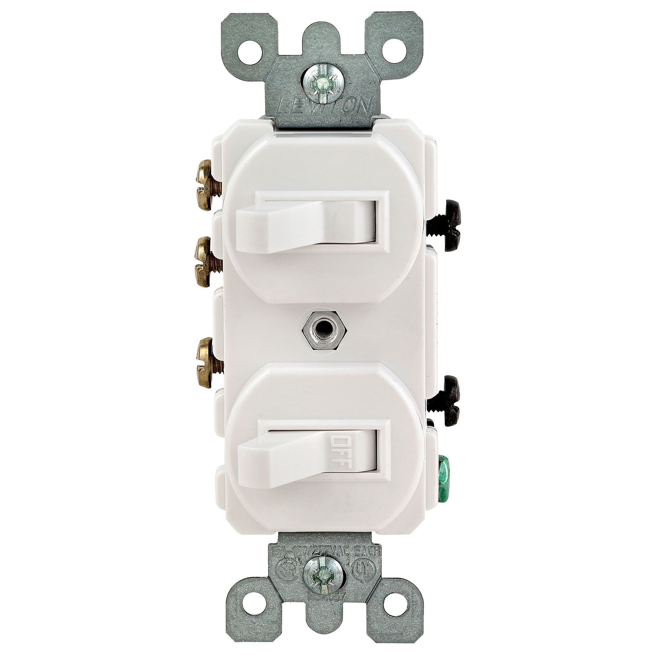 Leviton R62052410WS White Commercial Grade 3Way AC