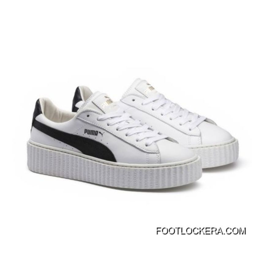 562e90664fc Black Puma, White Puma Shoes, Puma White, White Creepers, Black White,