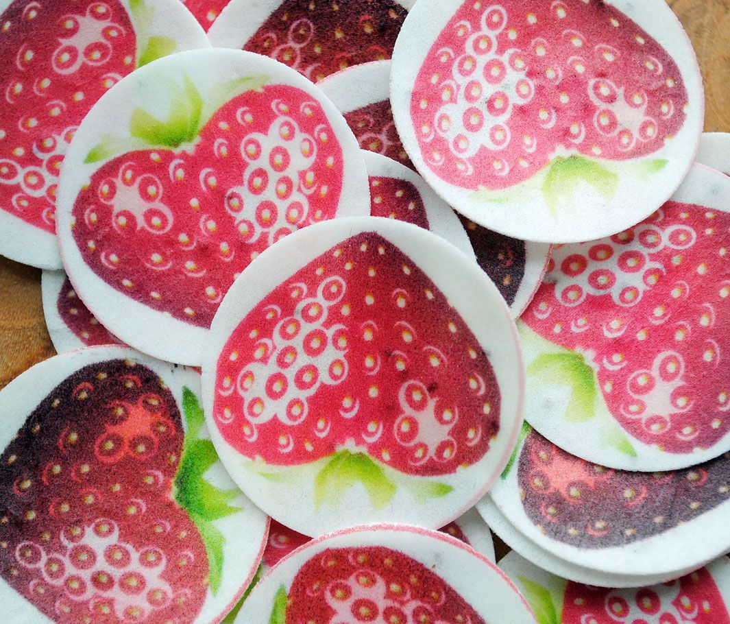 these plantable paper strawberries are so colourful and