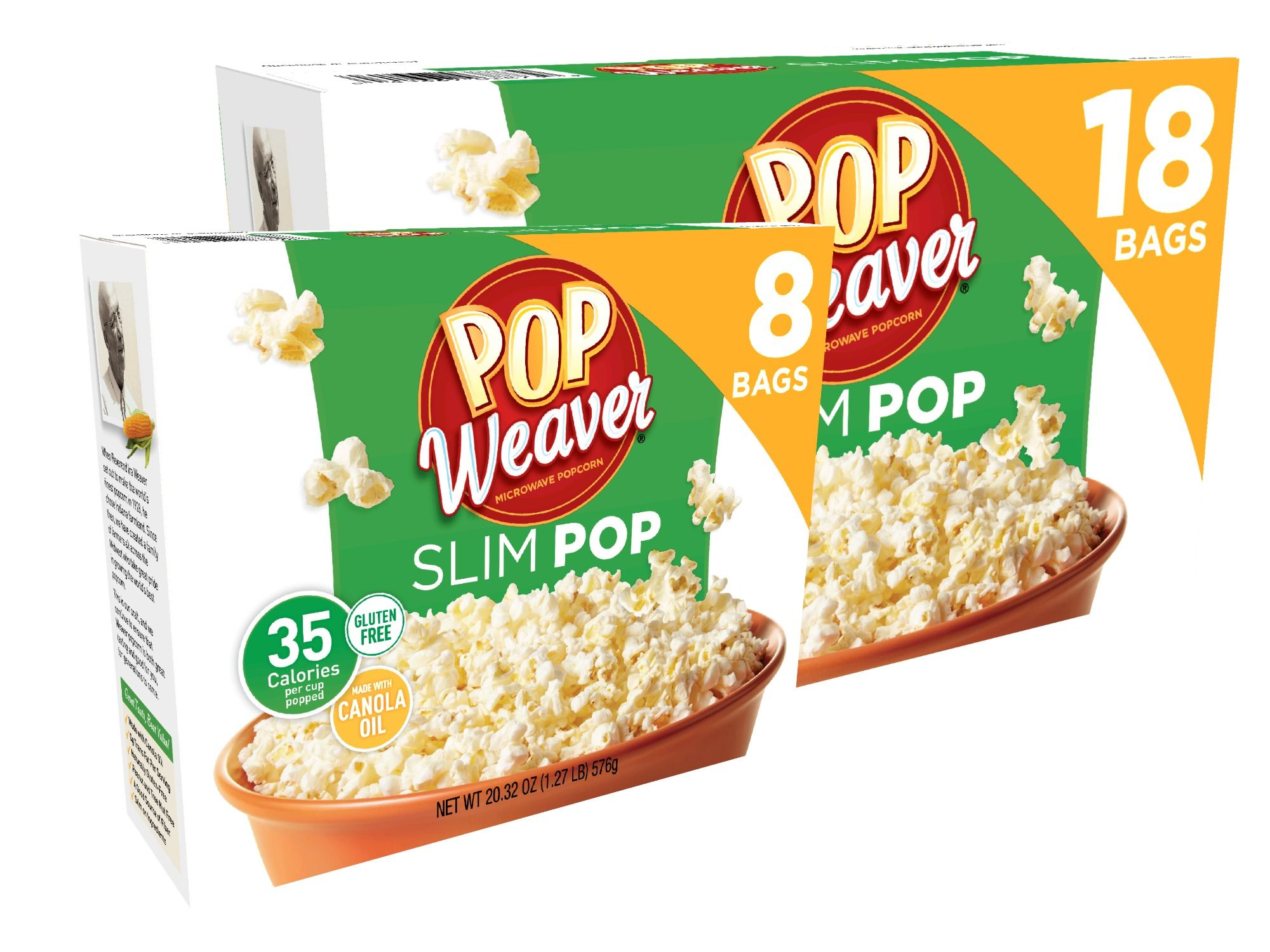 Pop Weaver Is Proud To Introduce Slim Microwave Popcorn As The Newest Member In