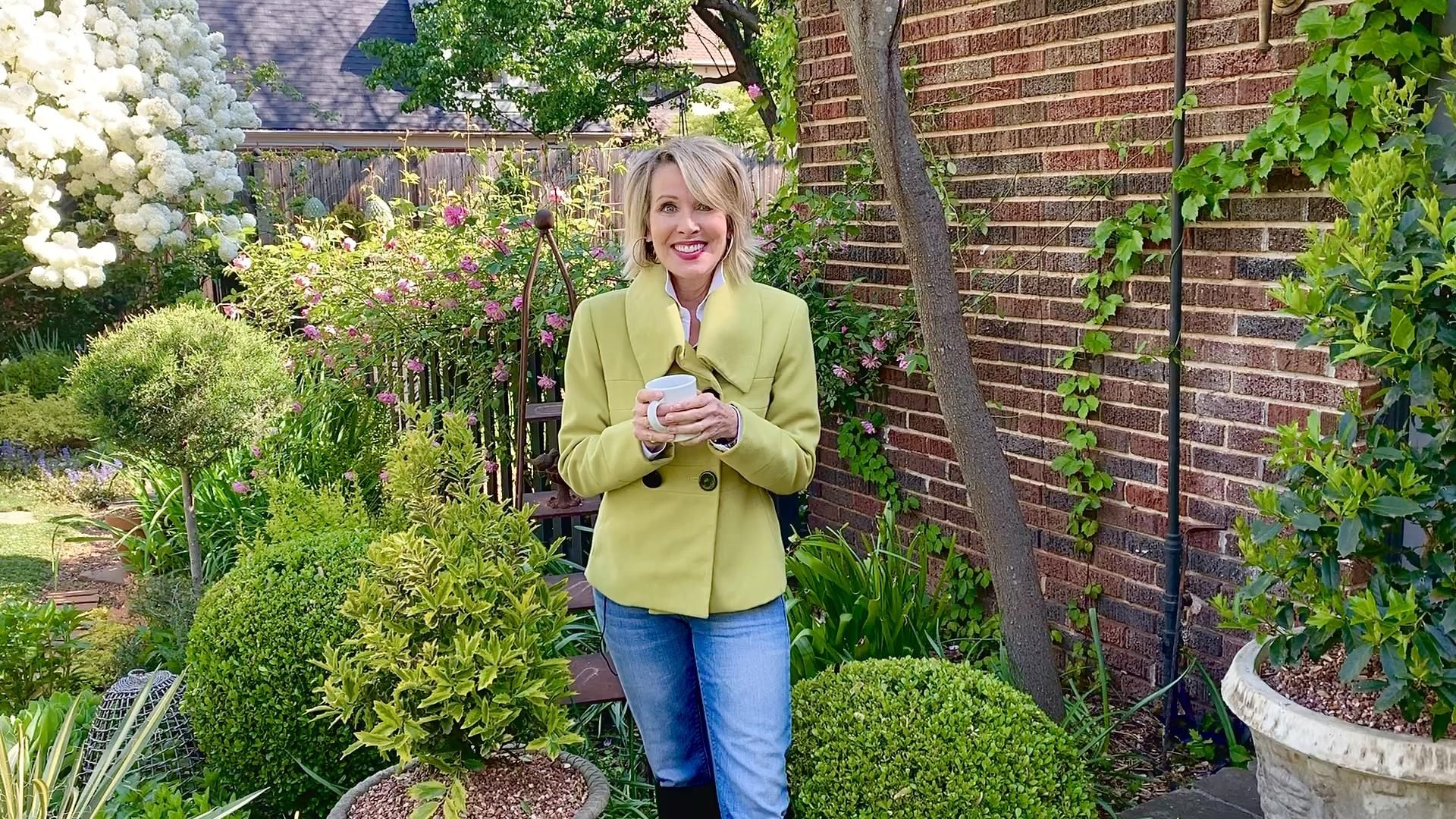 Here's a simple way to refresh your garden: create or rearrange containers in one color palette. In this video, Linda Vater shares her color block garden design in lime green or chartreuse with accents of purple plants. This garden design idea works well in landscape beds too!  #gardendesign #southernliving #containergardening