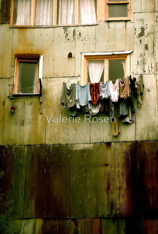 """""""Out to Dry"""" Digital photographic image by Valerie Rosen Photography, captured on the street in Valparaiso, Chile. Photo on metal print for your interior decor."""