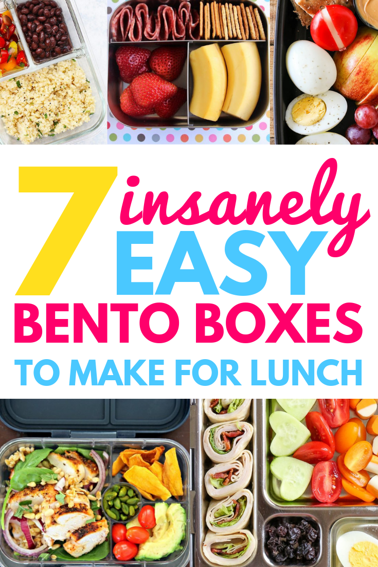 TIRED OF BORING LUNCHES? TRY ONE OF THESE 7 EASY BENTO BOXES images