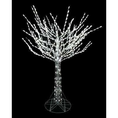 8 Ft Bare Branch Tree In White Tree Branches White Led Lights Potted Christmas Trees