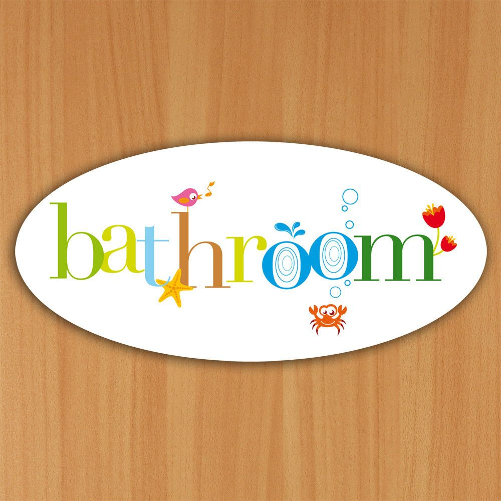 Bathroom Sign Size bathroom signs with colourful custom lettering. colourful